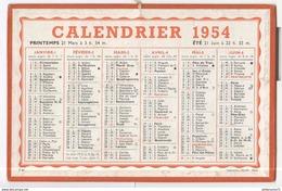 Calendrier 1954 Oller Paris - Tamaño Grande : 1941-60