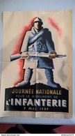 Affiche Originale Journée Nationale Pour Le Monument De L'Infanterie 7 Mai 1939 - Lithographie - Illustrateur Jean Carlu - Afiches