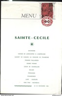 Menu Race Et Fidélité - Sainte Cécile - 25 Novembre 1984 - Menus