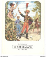 Menu Champagne De Castellane - 29 Avril 1973 - Menus