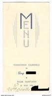 Menu Communion Solennelle - Eglise Saint Léon - 20 Mai 1954 - Menus