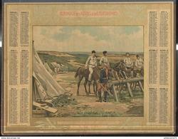 Calendrier Almanach Des Postes Et Télégraphes 1915 - L'abreuvoir Au Camp De Coetquidan - Big : 1901-20
