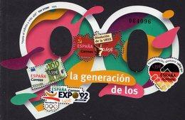 Spain - 2018 - Generation Of The 90's - Mint Souvenir Sheet With Unusual Perforation - 1931-Aujourd'hui: II. République - ....Juan Carlos I