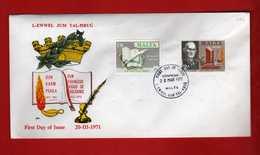 (Riz2) Malta  - 1971 - FDC. CENTENARI DIVERSI. Unif. 422/23.  Vedi Descrizione - Malta