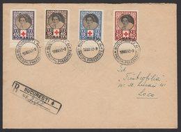 Enveloppe RECOMMANDEE Avec 4 Timbres De La CROIX ROUGE ROUMAINE De 1945 Oblt BUCAREST > LOCO - Croix-Rouge