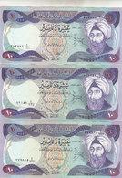 IRAQ 10 DINARS 1980 1981 1982 P-71 LOT X3 EF/XF NOTES DIFFERENT DATES */* - Iraq