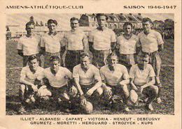 D80  AMIENS ATHLÉTIQUE CLUB SAISON 1946_1947  FOOTBALL DOCUMENT PUBLICITAIRE OFFERT PAR FRANCE SOIR - Football