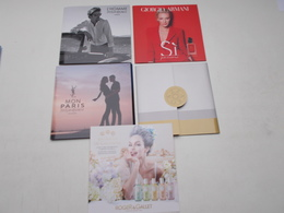 LOT DE 5 PUBLICITES DE PARFUM - Other