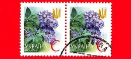 UCRAINA - Usato -  2002 - Fiori - Flowers - Fleurs - Lilla - Lilac - C - Ucraina