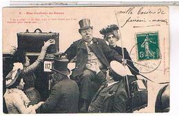 Humour Illustrateur Bergeret  NOS COCHERS DE FIACRE N°9  1907 - Bergeret