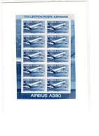 FRANCE PA AIRBUS A380. FEUILLET F69a Sous Blister Non Ouvert. - Ganze Bögen