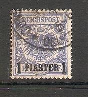 006612 German PO In Turkey 1889 1piastre FU - Ufficio: Turchia