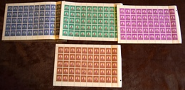 CONGO KINSHASA COB 676/79 COMPLETE SHEETS MNH - Neufs