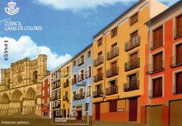 Spain - 2018 - Artistic Heritage - Coloured Houses Of Cuenca - Mint Unfolding Souvenir Sheet - 1931-Aujourd'hui: II. République - ....Juan Carlos I
