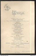 Menu Hotel De La Poste - Saulieu - 10 Septembre 1895 - Menu