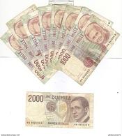 Lot De 20 Billets Italie / Italia / Italy - Total 95 000 Lires - [ 2] 1946-… : République