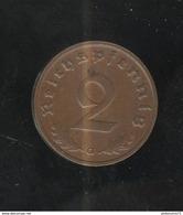 2 Reichspfennig 1939 G SUP - [ 4] 1933-1945 : Third Reich
