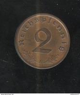 2 Reichspfennig Allemagne 1937 A SUP - [ 4] 1933-1945 : Third Reich