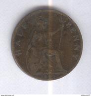 Half Penny Angleterre 1899 Victoria TTB - 1816-1901 : Frappes XIX° S.