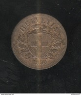 20 Centimes Blason ( 20 Rappen ) Suisse / Switzerland - 1850 - TTB+ - Suisse