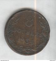 8 Doubles Guernesey 1834 TTB - Guernsey