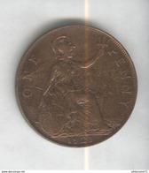 1 Penny Angleterre 1921 Georges V SUP - 1662-1816 : Antiche Coniature Fine XVII° - Inizio XIX° S.