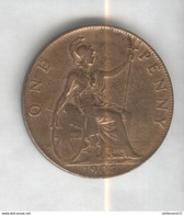 1 Penny Angleterre 1907 Edouard VII SUP - 1662-1816 : Acuñaciones Antiguas Fin XVII° - Inicio XIX° S.