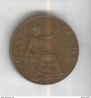 Half Penny Angleterre 1913 Georges V SUP - 1816-1901 : Frappes XIX° S.