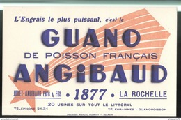 Buvard Guano Angibaud - La Rochelle - Très Bon état - Buvards, Protège-cahiers Illustrés