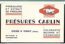 Buvard Présures Carlin - Usine à Vinay ( Isère ) - Très Bon état - Buvards, Protège-cahiers Illustrés