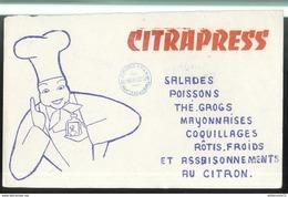 Buvard Citrapress - Tampon épicerie Pons à Montceau Les Mines - Très Bon état - Vloeipapier