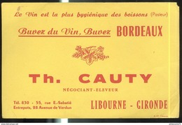 Buvard Cauty - Vins De Bordeaux - Très Bon état - Buvards, Protège-cahiers Illustrés