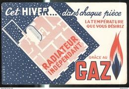 Buvard Gaz - Cet Hiver Dans Chaque Pièce... - Radiateur Indépendant - Bon état - Vloeipapier