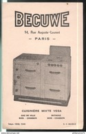 Buvard Becuwe - Cuisinière Mixte Vega - Bon état - Vloeipapier