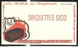 Buvard Briquettes Sico - Très Bon état - Vloeipapier