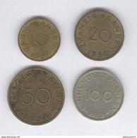 Lot 10 , 20 , 50 , 100 Franken Sarre - Colonies