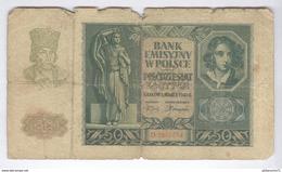 Billet 50 Zlotych Pologne 1940 - Pologne