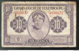 Billet 10 Francs Luxembourg Type 1944 - Luxembourg