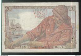 Billet 20 Francs France Pécheur 10-3-1949 - 1871-1952 Anciens Francs Circulés Au XXème