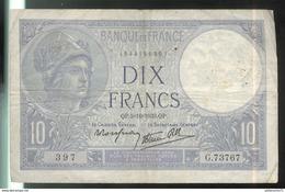 Billet 10 Francs France Minerve 5-10-1939 - 1871-1952 Antichi Franchi Circolanti Nel XX Secolo