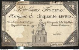 Assignat De Cinquante Livres / 50 Livres - Créé Le 14 Décembre 1792 - Authentique - Assegnati