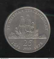25 Pence Ste Helène 1973 Tricentenaire 1673-1973 - Saint Helena Island