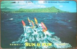 Hawaii - GTH-14, Diamond Head Windsurfers, 'Sun & Fun' ('Telephone'), Bronze, 3U, 1.000ex, Mint - Hawaii