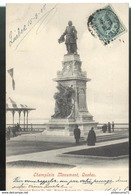 CPA Quebec - Montréal - Champlain Monument - Circulée 1905 - Montreal