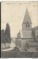 CPA Lugny - Eglise Et Grande Rue - Circulée - Macon