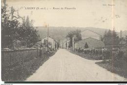 CPA Lugny - Route De Fleurville - Circulée 1913 - Macon