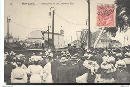 CPA Quebec - Montréal - Attraction In The Dominion Park - Non Circulée - Montreal