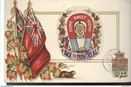 CPA Quebec - Back To Montréal - Home Sweet Home - Circulée 1909 - Montreal