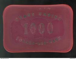 Plaque De 1000 Francs Grand Casino De Forges Les Eaux - Plastique état Moyen - Casino
