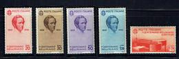 ITALIE - N° 368/372 - 1935 - Compositeur Vincenzo BELLINI - 1801/1835 - Piano - Cote : 65€ - 1900-44 Victor Emmanuel III.